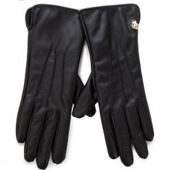 Rękawiczki Damskie TRUSSARDI JEANS - Gloves 58Z00073 K299. Czarne rękawiczki damskie TRUSSARDI JEANS, z jeansu. Za 189.00 zł.