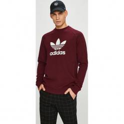 Adidas Originals - Bluza. Brązowe bluzy męskie adidas Originals, z nadrukiem, z bawełny. W wyprzedaży za 199.90 zł.