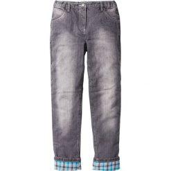 Spodnie z ciepłą flanelową podszewką bonprix szary denim. Spodnie materiałowe dla chłopców marki Reserved. Za 32.99 zł.