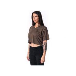 Damski panelled V-T-shirt 17. Zielone t-shirty damskie Theg clothing, z haftami, z elastanu, z dekoltem w serek. Za 159.16 zł.