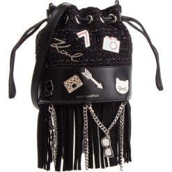Torebka KARL LAGERFELD - 86KW3023 Black. Czarne torebki do ręki damskie KARL LAGERFELD, w geometryczne wzory, z materiału. Za 1,489.00 zł.