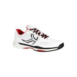 Buty tenisowe TS990 męskie na twardą nawierzchnię. Białe buty sportowe męskie ARTENGO, z gumy. Za 199.99 zł.