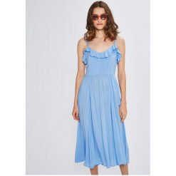 Vero Moda - Sukienka. Szare sukienki damskie Vero Moda, z tkaniny, casualowe. W wyprzedaży za 139.90 zł.