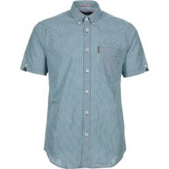 """Koszula """"Gingham"""" - Regular fit - w kolorze turkusowo-białym. Białe koszule męskie Ben Sherman, w kratkę, z bawełny, button down. W wyprzedaży za 130.95 zł."""