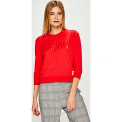 Calvin Klein Jeans - Bluza. Szare bluzy damskie Calvin Klein Jeans, z nadrukiem, z bawełny. Za 449.90 zł.