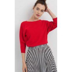 Sweter z nietoperzowym rękawem. Czerwone swetry damskie Orsay, z dzianiny. Za 79.99 zł.