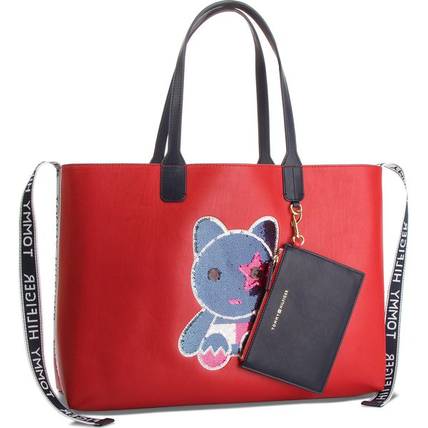 8a55804ce Torebka TOMMY HILFIGER - Iconic Tommy Tote Ma AW0AW06042 910 ...