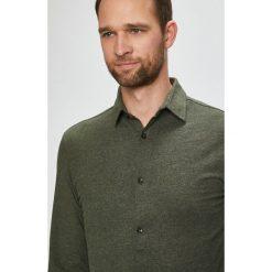 Jack & Jones - Koszula. Szare koszule męskie Jack & Jones, z bawełny, z klasycznym kołnierzykiem, z długim rękawem. W wyprzedaży za 99.90 zł.