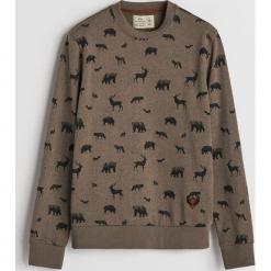 Bluza z leśnym printem - Zielony. Zielone bluzy męskie Reserved. Za 99.99 zł.