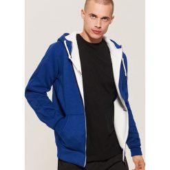 Ocieplana bluza z kapturem - Granatowy. Niebieskie bluzy męskie House. Za 139.99 zł.