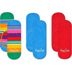 Happy Socks - Stopki Multi Stripe (3-pak). Niebieskie skarpety damskie Happy Socks. Za 69.90 zł.