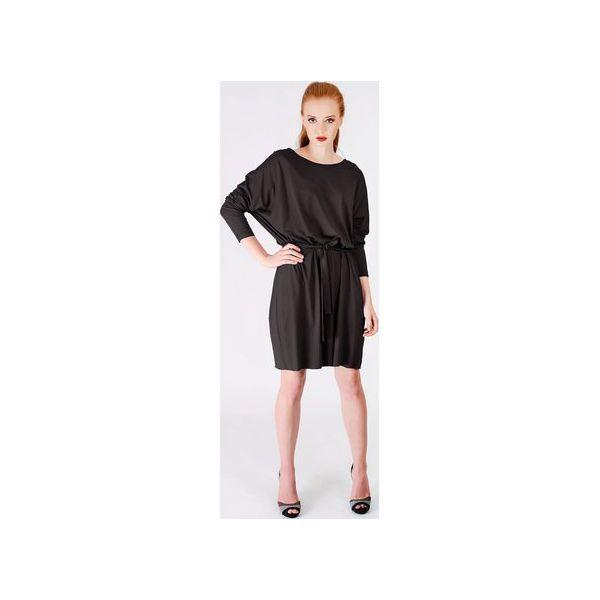 efc753774f czarna dzianinowa sukienka oversize - Sukienki damskie marki Non ...