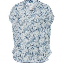 Bluzka w kolorze biało-granatowym. Białe bluzki damskie Cross Jeans. W wyprzedaży za 45.95 zł.
