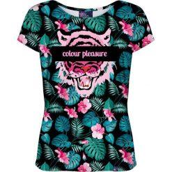Colour Pleasure Koszulka damska CP-034 259 różowo-zielona r. M/L. T-shirty damskie Colour Pleasure. Za 70.35 zł.