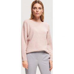 Sweter z zamkiem na plecach - Różowy. Swetry damskie marki bonprix. Za 119.99 zł.