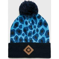 True Spin - Czapka. Niebieskie czapki i kapelusze damskie True Spin, z dzianiny. W wyprzedaży za 49.90 zł.