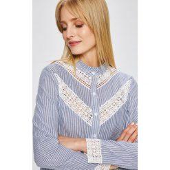 Answear - Koszula Wild Nature. Szare koszule damskie ANSWEAR, w paski, z bawełny, casualowe, ze stójką, z długim rękawem. W wyprzedaży za 69.90 zł.