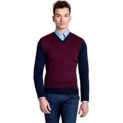 Sweter GREGORIO SWG000044. Czarne swetry przez głowę męskie Giacomo Conti, w geometryczne wzory, z tkaniny. Za 259.00 zł.
