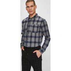 Jack & Jones - Koszula. Czarne koszule męskie Jack & Jones, w kratkę, z bawełny, z włoskim kołnierzykiem, z długim rękawem. W wyprzedaży za 139.90 zł.