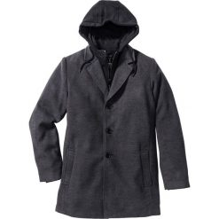 """Płaszcz """"Slim fit"""" bonprix antracytowy melanż. Szare płaszcze męskie bonprix, melanż, z dresówki. Za 269.99 zł."""