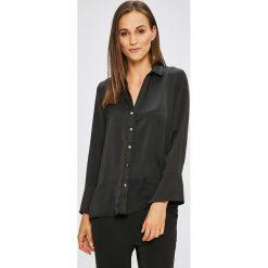 Answear - Koszula. Czarne koszule damskie ANSWEAR, z poliesteru, casualowe, z długim rękawem. W wyprzedaży za 69.90 zł.