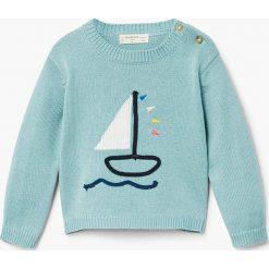 Mango Kids - Sweter dziecięcy Barco 62-80 cm. Swetry dla dziewczynek Mango Kids, z bawełny, z okrągłym kołnierzem. Za 69.90 zł.