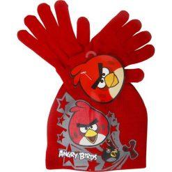 Czapka i rękawiczki dla chłopca, Czerwony r. 52. Czerwone rękawiczki dziecięce Angry Birds. Za 17.00 zł.