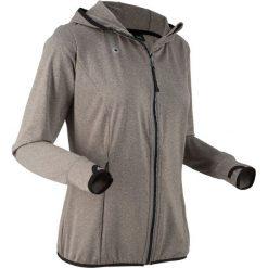Bluza funkcyjna treningowa, rozpinana, długi rękaw bonprix szary melanż. Bluzy damskie marki KALENJI. Za 59.99 zł.