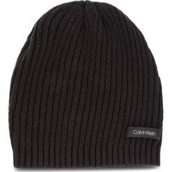Czapka CALVIN KLEIN - Diagonal Rib Beanie K60K604713 001. Czarne czapki i kapelusze damskie Calvin Klein, z bawełny. Za 159.00 zł.