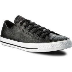 Tenisówki CONVERSE - Ctas Ox 157565C Black/Black/White. Czarne trampki męskie Converse, z gumy. W wyprzedaży za 249.00 zł.