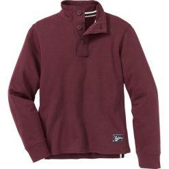 Bluza ze stójką i plisą guzikową Regular Fit bonprix czerwony klonowy. Czerwone bluzy męskie bonprix. Za 74.99 zł.