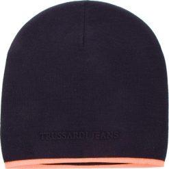 Czapka TRUSSARDI JEANS - Hat Knitted Fluo Stripe 57Z00077 U290. Niebieskie czapki i kapelusze męskie TRUSSARDI JEANS. Za 169.00 zł.