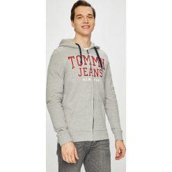 Tommy Jeans - Bluza. Szare bluzy męskie Tommy Jeans, z nadrukiem, z bawełny. Za 399.90 zł.