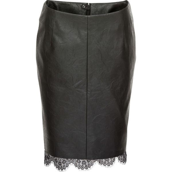 Spódnica z koronką bonprix czarny