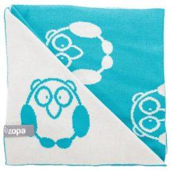 Zopa Kocyk Dziecięcy Little Owl, Mint. Zielone kocyki dla dzieci Zopa, z bawełny. Za 119.00 zł.