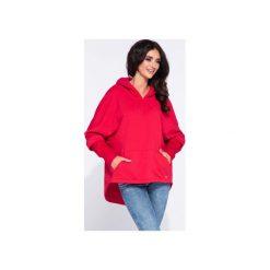 Czerwona sportowa bluza damska z kapturem. Czerwone bluzy damskie Bien fashion, z bawełny. Za 169.00 zł.