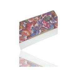 Kopertówka Koperta MANZANA motyle. Białe kopertówki damskie Manzana, w kolorowe wzory, z materiału, eleganckie. Za 69.00 zł.