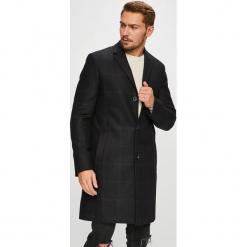 Calvin Klein - Płaszcz. Czarne płaszcze męskie Calvin Klein, z bawełny, klasyczne. Za 1,399.00 zł.