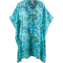 Tunika plażowa bonprix niebiesko-turkusowy z nadrukiem. Tuniki damskie marki bonprix. Za 74.99 zł.