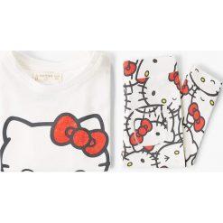 Mango Kids - Piżama dziecięca Kitty 80-104 cm. Bielizna dla chłopców Mango Kids, z nadrukiem, z bawełny. W wyprzedaży za 39.90 zł.