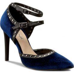 Szpilki CARINII - B3951  J33-E50-000-A49. Niebieskie szpilki damskie Carinii, z materiału. W wyprzedaży za 239.00 zł.