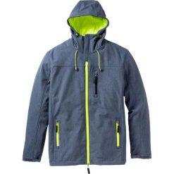 Kurtka softshell Regular Fit bonprix niebieski melanż. Niebieskie kurtki męskie bonprix, melanż, z softshellu. Za 189.99 zł.