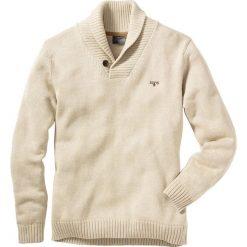 Sweter Regular Fit bonprix naturalny melanż. Swetry przez głowę męskie marki Giacomo Conti. Za 79.99 zł.