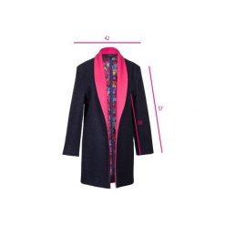 Granatowy płaszcz z wełny. Niebieskie płaszcze damskie Diamond dust, z jedwabiu, klasyczne. Za 1,300.00 zł.