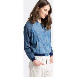 Pepe Jeans - Kurtka bomber. Szare kurtki damskie Pepe Jeans, z jeansu. W wyprzedaży za 299.90 zł.