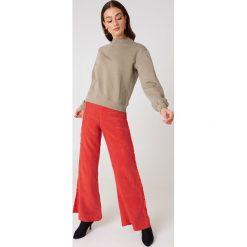 NA-KD Basic Bluza basic - Brown. Brązowe bluzy damskie NA-KD Basic, z dresówki. Za 100.95 zł.