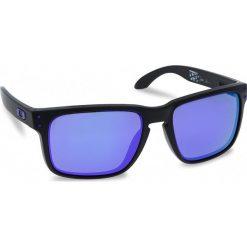 Okulary przeciwsłoneczne OAKLEY - Holbrook OO9102-26 Matte Black/Violet Iridium. Czarne okulary przeciwsłoneczne męskie Oakley, z tworzywa sztucznego. W wyprzedaży za 479.00 zł.