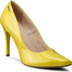 Szpilki OLEKSY - 1843/875/000/000/000 Żółty. Żółte szpilki damskie Oleksy, z lakierowanej skóry. W wyprzedaży za 189.00 zł.