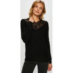 Vero Moda - Sweter Merla. Czarne swetry damskie Vero Moda, z dzianiny, z okrągłym kołnierzem. W wyprzedaży za 139.90 zł.