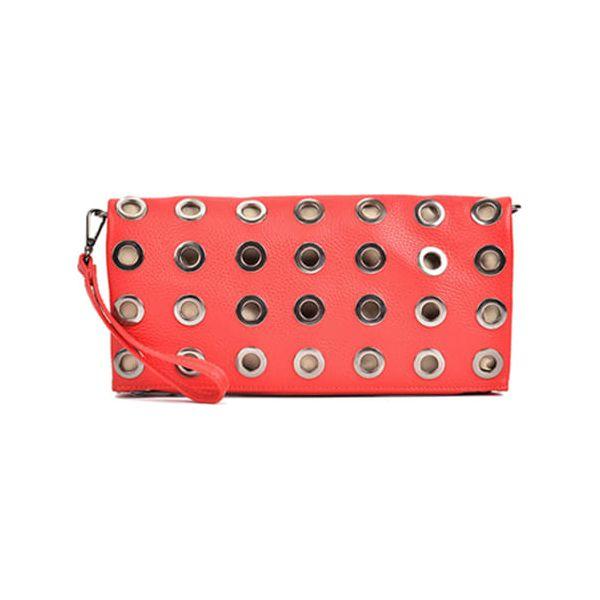 9bc1cd3ac5ff1 Skórzana torebka w kolorze czerwonym - (S)33 x (W)33 cm - Czerwone ...